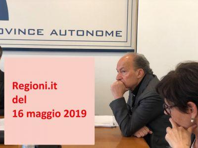 Regioni.it del 16 maggio 2019