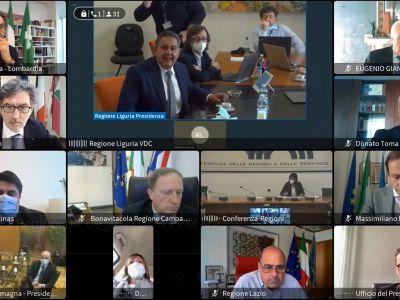 Elezione Presidente e Vicepresidente Conferenza Regioni - Presidenti - 09.04.2021